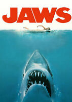 Home Wall Print - Vintage Movie Film Poster - JAWS - A4,A3,A2