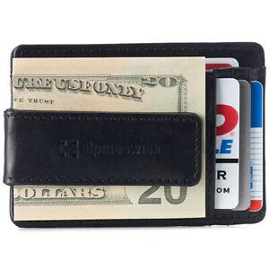 Alpine Swiss Mens RFID Minimalist Money Clip Front Pocket Wallet Slim ID Holder