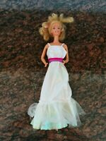 Vintage Barbie Doll Blonde Hair 1966 Mattel With Dress and Hair Band E2