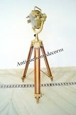 VINTAGE MARINE LOOK SEARCHLIGHT WITH TRIPOD STAND SPOT LIGHT CHRISTMAS GIFT GN