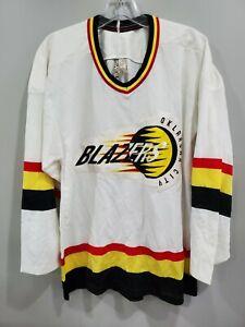 Rare VTG 90s Pro Wear Oklahoma City Blazers CHL Minor Hockey Jersey Mens XS S