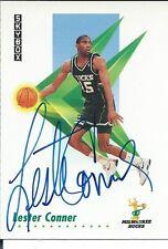 Signed 1991-92 Sky Box Lester Conner Milwaukee Bucks Basketball card #156 w/COA