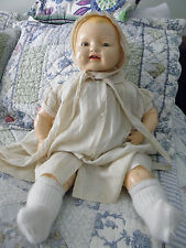 Vintage HORSMAN EIH Composition Doll Baby Dimples 22 inches