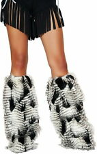 Native American Fur Leg Warmer EDM Rave Halloween Costume Accessory Adult Women