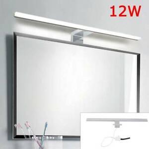 LED Spiegelleuchte Bad Beleuchtung Schminklicht Badezimmer IP44 Aufbaulampe 12W