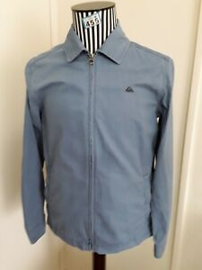 40 inch chest Mens Bomber Jacket Size S light blue zipped with pockets