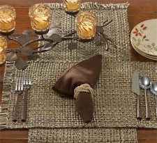 Park Designs TWEED - Espresso Cotton Placemat - Brown, Taupe Brown, Tan, Ivory