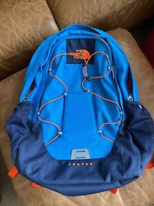 North Face Jester Backpack/Rucksack with Laptop Sleeve in Blue Orange BRAND NEW