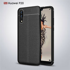 For Huawei P Smart/P9 P10 P20 Lite Shockproof Soft TPU Leather Back Case Cover