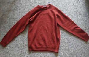 James Pringle Mens Brown  Knit Pullover Jumper Size M