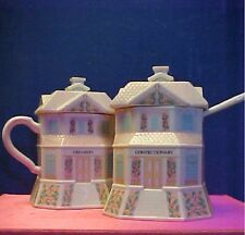 Lenox creamer and sugar set (the Confectionary and the Creamer) Houses etc