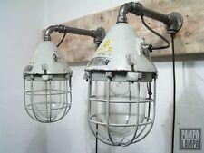 1von2 INDUSTRIAL VINTAGE WANDLAMPE BUNKERLAMPE INDUSTRIELAMPE FABRIKLAMPE LAMPE