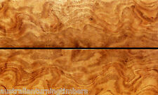 Australian Red Stringy Bark Burl Wood Knife Scales (Bookmatched)