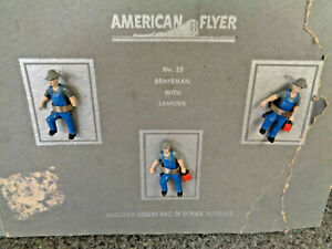American Flyer S Gauge 1950 #35 Unused Brakeman With Lantern On Partial Box