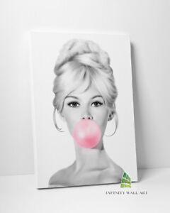 BRIGITTE BARDOT Bubble Gum Canvas Art Wall Art Print Picture Fashion Decor -D142