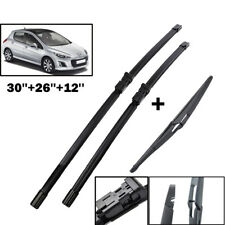 """XUKEY Front Rear Windshield Wiper Blades Set For Peugeot 308 T7 07-13 30""""26""""12"""""""