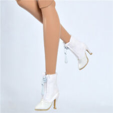 Fit Fashion royalty Fr2 shoes poppy parker Doll Dg momoko white boots 15-Fr2-2