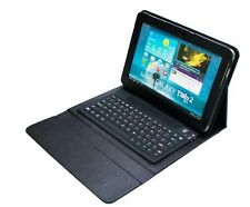 Galaxy Tab2 10.1 P5100 P5110 Bluetooth Keyboard Leather Case Tab 10.1 P7500