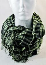 Shemagh GREEN AND BLACK Scarf Use as a belt Fashion statement Bag all weathers