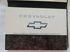 1994  Chevrolet Chevy Lumina Minivan  Van Owners Manual