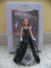 Hallmark 2005 Club Exclusive Porcelain Barbie Doll Christmas Ornament Rare