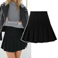 Women Ladies Casual Party Pleated Short Skirt AU Size 8 10 12 14 16 18 #23031