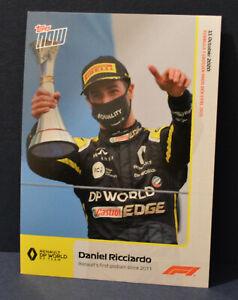 F1 Topps Now Formula 1 card #8 Daniel Ricciardo Renault's first podium
