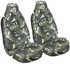 FORD RANGER - Heavy Duty Waterproof Car Seat Covers Protectors Grey Camo