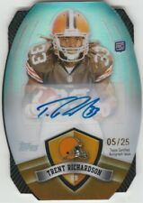 2012 Topps Game Time Giveaway Die Cut Autographs #44 Trent Richardson #'d 5 / 25