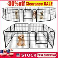 8/16 Panel Heavy Duty Cage Crate Pet Dog Exercise Fence Playpen 40'' 32'' 24''