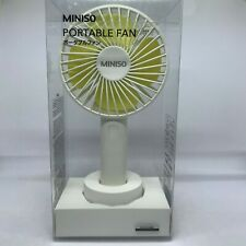 Miniso Rechargeable Mini Handheld Fan Portable USB Fan White