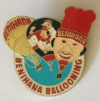 Benihana Ballooning Restaurateur Chef Advertising Pin Badge Rare Vintage (C23)