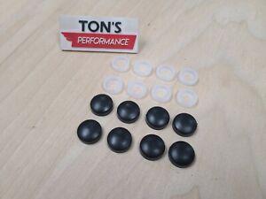 8pcs BLACK SCREW CAP  BOLT CAPS COVERS for Car Truck License Plate Frame Secure