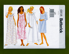 Misses Petite Nightgowns Sewing Pattern~Diamond Neck (Size L, XL) Butterick 6838