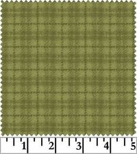 Shadow Play  Woolies  Flannel -  Green Small Plaid #18502-G