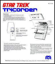 ORIGINAL SERIES: 1976 STAR TREK MEGO TRICORDER INSTRUCTION SHEET