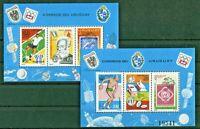 Uruguay Block 29 + 30 postfrisch Michel 110,00 € UPU 1976 MNH Motiv Fußball