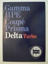LANCIA Delta HF Turbo Orig 1984 Reino Unido Mkt folleto de ventas-también 1300 & GT 1600