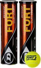 Dunlop Fort Clay Court bi-pack palla da tennis 2 x 4er dosi 8 palline