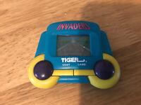 Tiger Invaders 1990's Vintage LCD Handheld Electronic Game