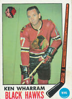 1969-70 Topps #74 Ken Wharram Chicago Blackhawks RC Rookie Hockey Card