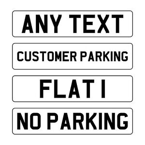 Single White Reflective Custom Personalised Printed Sign Plaque
