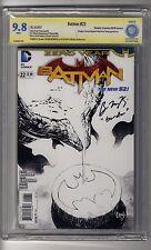 Batman (2011) # 22 1:100 Sketch RI - CBCS 9.8 WHITE  Pages - SS Ben McKenzie