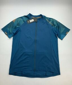 Louis Garneau Maillot Maple Lane Cycling Jersey Blue Men's Medium New
