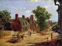PAINTING URBAN LANDSCAPE MAYER FRANCIS STREET OLD ANNAPOLIS REPRO PRINT PAM2165