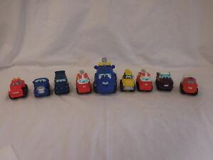 Disney Cars and Tonka Trucks Vehicles Racecars 9 colorful hard rubber