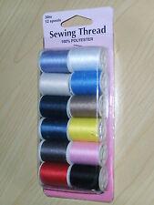 Hemline-12pc Sewing Thread Pack-12 x 30 cm Reels-Everyday Assortment