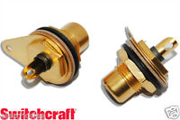 1pcs - Switchcraft RCA  Gold-Plated  Female Socket / Connector NOS