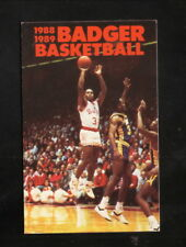 Wisconsin Badgers--1988-89 Basketball Pocket Schedule--First Wisconsin