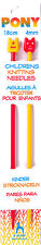 Pony Childrens Plastic Knitting Needles Size : 4mm - A Bright fun pair
